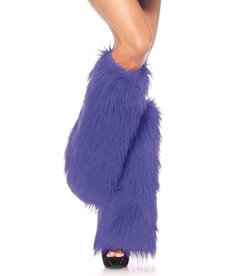 Leg Avenue Furry Leg Warmers: Purple - Adult Size