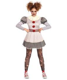 Leg Avenue Creepy Clown: Adult Costume