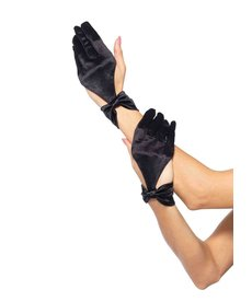 Leg Avenue Satin Cut Out Gloves