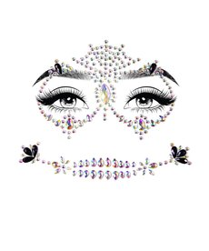 Leg Avenue Face Jewels Stickers: Calavera
