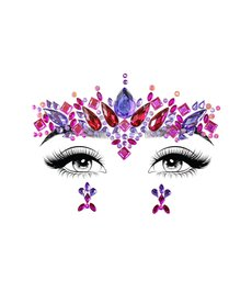 Leg Avenue Face Jewels Stickers: Elektra