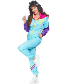 Leg Avenue Women's Awesome 80's Track Suit Costume