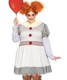 Leg Avenue Plus Size Creepy Clown Costume