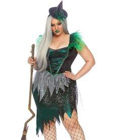 Leg Avenue Women's Plus Size Wicked Witch Costume