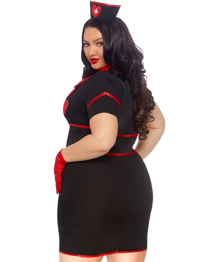 Leg Avenue Women's Plus Size Bedside Babe Costume