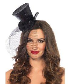 Leg Avenue Mini Top Hat w/ Veil