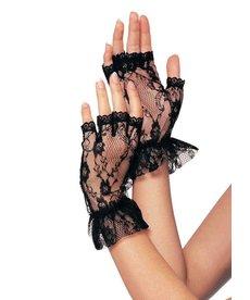 Leg Avenue Fingerless Lace Ruffle Gloves