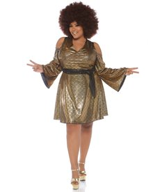 Leg Avenue Women's Plus Size Disco Doll Costume