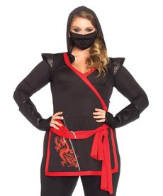 Leg Avenue Women's Plus Size Ninja Assassin Costume