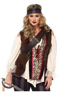 Leg Avenue Women's Plus Size Captain Blackheart Costume