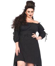 Leg Avenue Women's Plus Size High Low Peasant Dress Costume