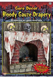 15' Bloody Gauze Drapery