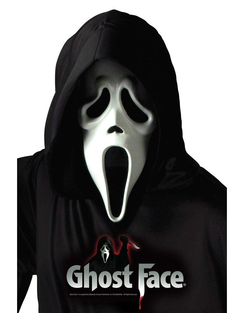 Fun World Costumes Ghost Face® Mask w/ Shroud (Scream)