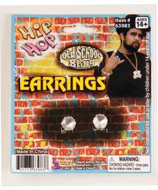 Hip Hop Big Diamond Stud Earrings