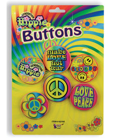 Hippie Buttons (5ct.)