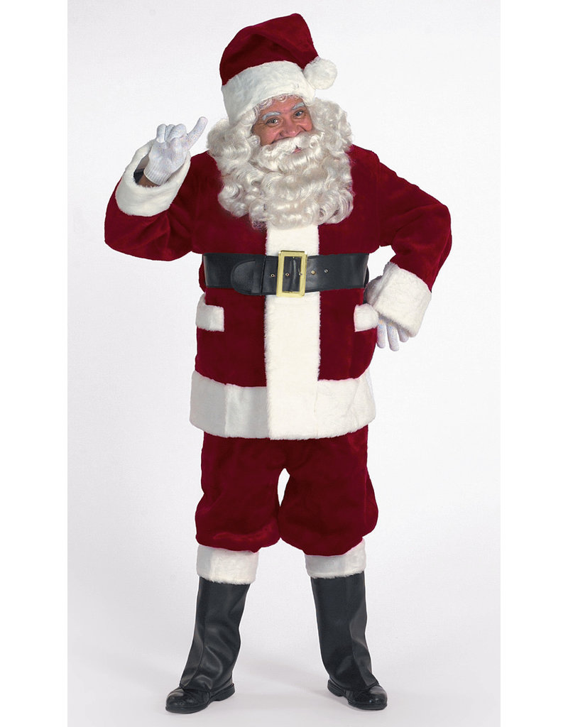 Halco Holidays Burgundy Deluxe Santa Suit w/ Outside Pockets