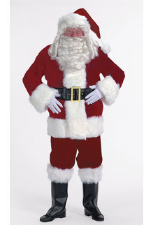 Halco Holidays Burgundy Velvet Santa Suit