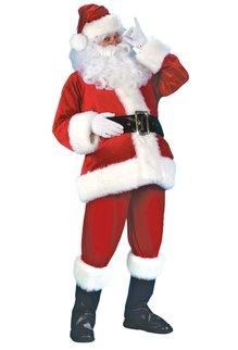 Fun World Costumes Deluxe Velour Velvet Santa Suit