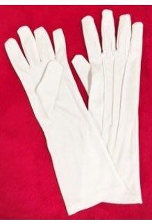 "Halco Holidays 12"" Long White Nylon Gloves"