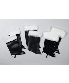Halco Holidays Patent Leather Santa Boot Covers