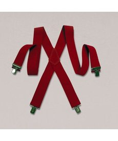 Halco Holidays Heavy Duty Suspenders: Red