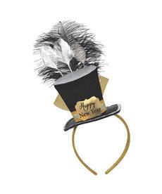 Top Hat Fascinator: Black, Silver, Gold