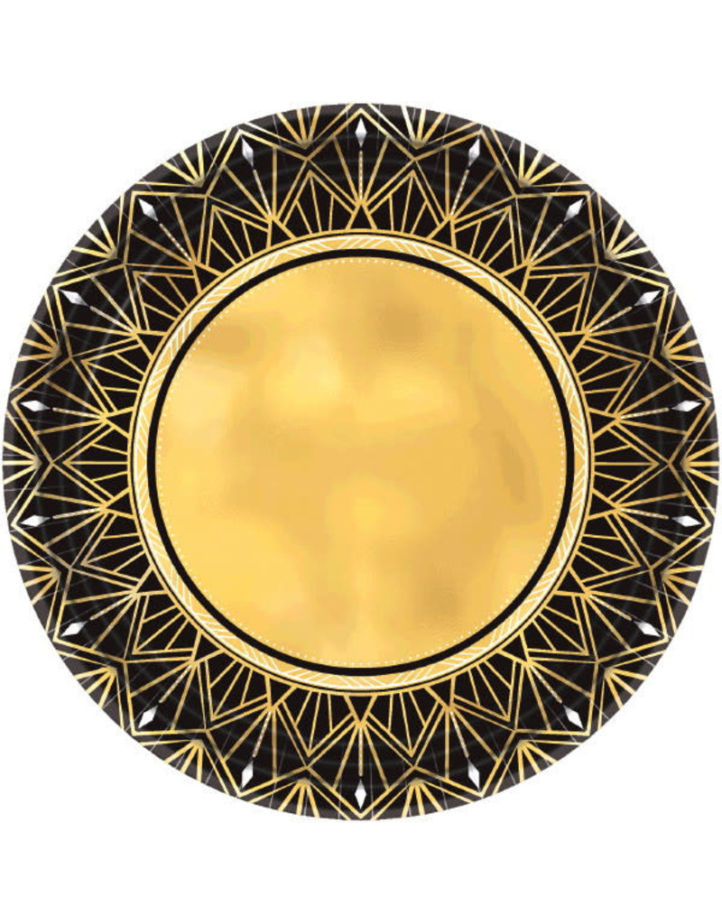 10'' Metallic Round Plates: Glitz & Glam (8ct.)