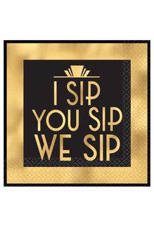 Beverage Napkins: I Sip You Sip (16ct.)