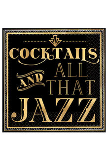 Beverage Napkins: Cocktails And All That Jazz (16ct.)
