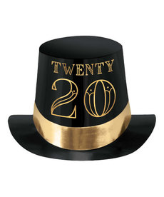 2020 Roaring New Year's Eve Foil Top Hat