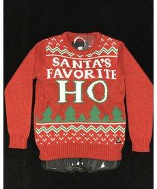 Women's Sweater: Santa's Fav Ho