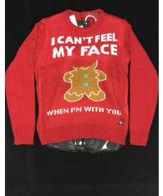Women's Sweater: Can't Feel My Face