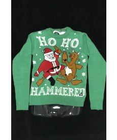 Men's Sweater: HO HO Hammered