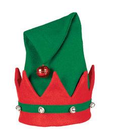 Felt Christmas Elf Hat w/ Bells