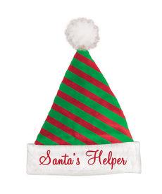 Felt Santa's Helper Striped Hat