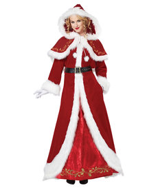 California Costumes Women's Mrs. Claus Deluxe Costume