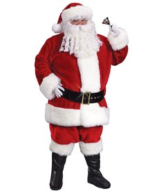 Fun World Costumes Regency Plush Crimson Santa Suit