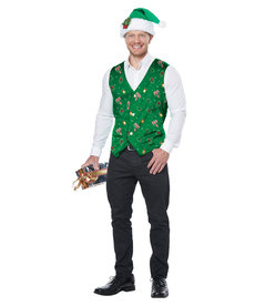 California Costumes Holiday Vest: Green