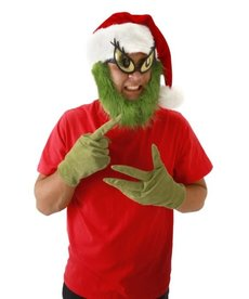 elope Dr. Seuss The Grinch Plush Hat with Beard