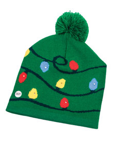 Knit Light-Up Hat - Green w/ Bulbs