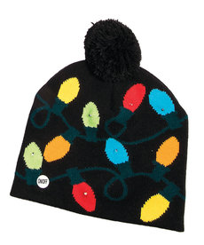 Knit Light-Up Hat - Black w/ Bulbs