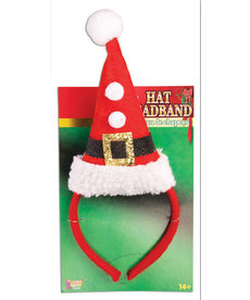 Santa Hat w/ Pom Pom Headband