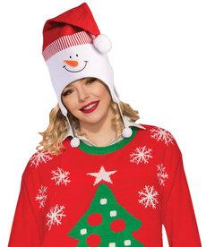 Snowman Hat w/ Pom Poms