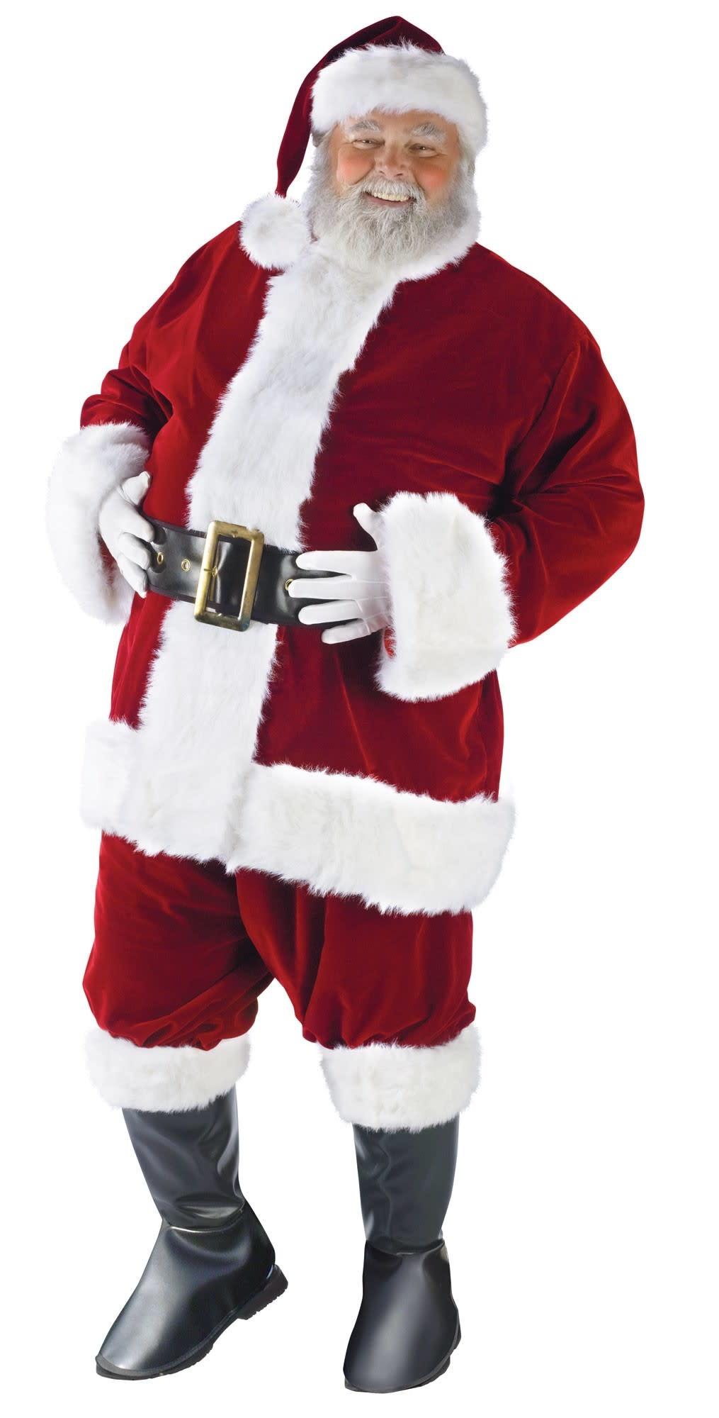 ultra velvet santa suit plus size costume jacket 50 54. Black Bedroom Furniture Sets. Home Design Ideas