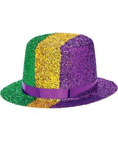 Amscan Mini Mardi Gras Glitter Top Hat
