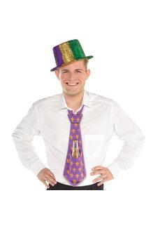 20'' Mardi Gras Drinking Tie