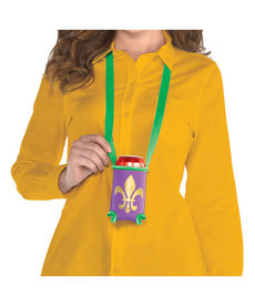 Mardi Gras Beverage Holder Necklace