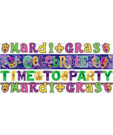 Amscan Mardi Gras Letter Banner Combo Pack