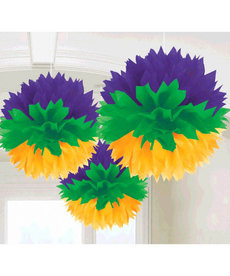 Amscan Mardi Gras Fluffy Hanging Decor
