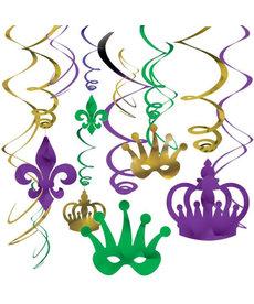 Amscan Mardi Gras Foil Swirl Decor